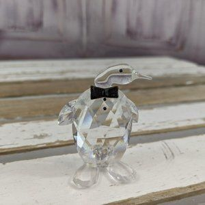 Zoo penguin crystal figurine decor